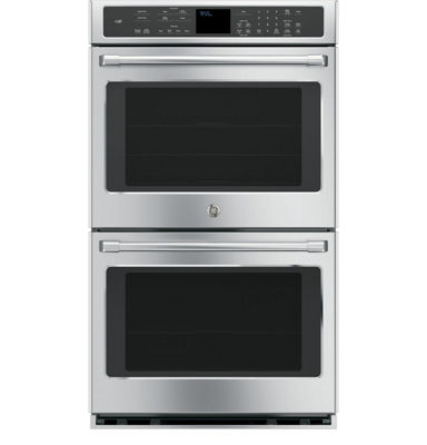 "GE Café ™ 30"" Double Electric Wall Oven Self Cleaning With Convection"