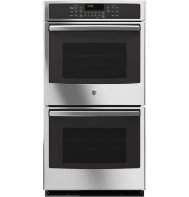 """GE® 27"""" Built-In Double Electric Wall Oven with Steam Plus Convection"""