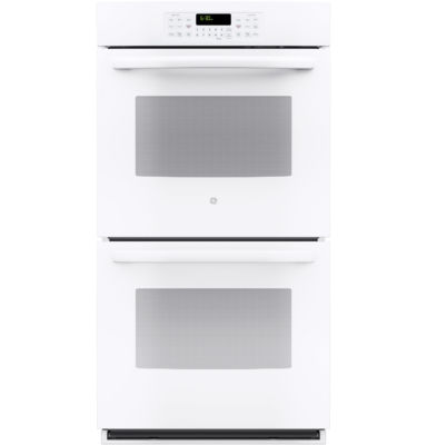 """GE® 27"""" Built-In Double Electric Wall Oven Self Cleaning with Steam"""
