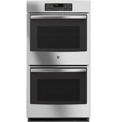 "GE® 27"" Built-In Double Electric Wall Oven Self Cleaning with Steam"