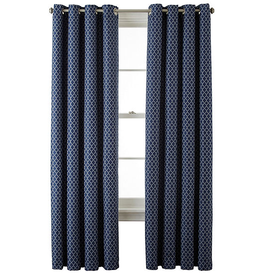 JCPenney Home Light-Filtering Grommet-Top Single Curtain Panel
