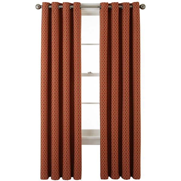 jcp home Rory Grommet Top Lined Curtain Panel