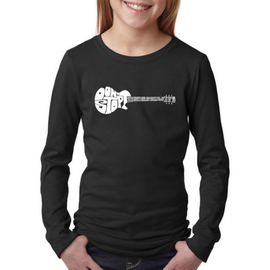 Los Angeles Pop Art Don'T Stop Believin' Long Sleeve Graphic T-Shirt Girls