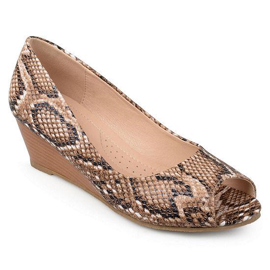 Journee Collection Womens Chaz Pumps Wedge Heel