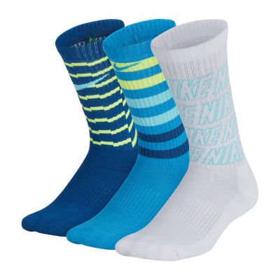 Nike Performance 3 Pack Graphic Crew Socks - Boys