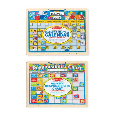 Melissa & Doug® Magnetic Calendar & Responsibility Chart Bundle
