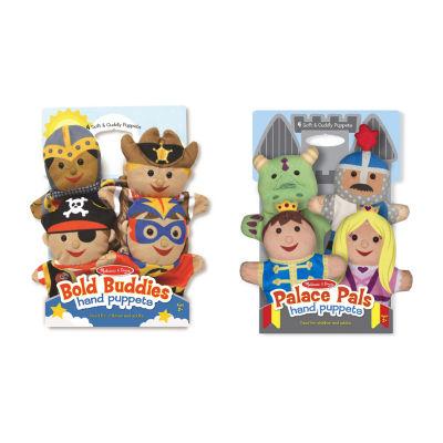 Melissa & Doug® Hand Puppet Adventure Bundle - Bold Buddies & Palace Pals