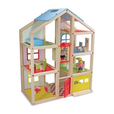 Melissa & Doug Hi-Rise Dollhouse Bundle