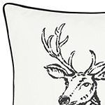 Eddie Bauer Winter Morning Stag Square Pillow