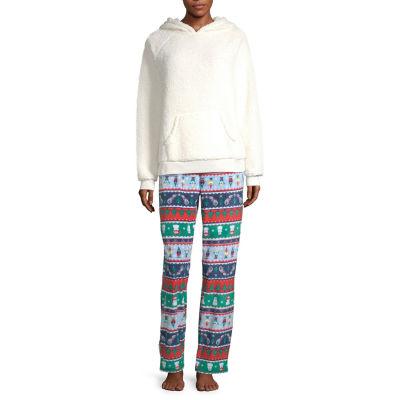 North Pole Trading Co. Fun Fairisle Family Womens-Petite Pant Pajama Set 2-pc. Long Sleeve