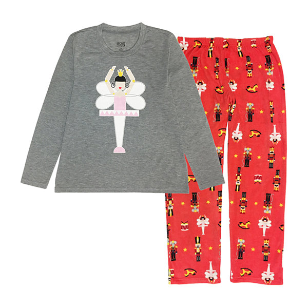 Secret Santa The Nutcracker Family Womens Pant Pajama Set 2-pc. Long Sleeve
