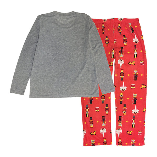 Secret Santa The Nutcracker Family Womens-Petite Pant Pajama Set 2-pc. Long Sleeve