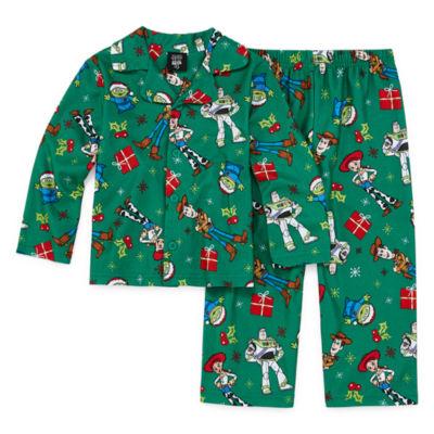 Disney Toy Story Family Unisex 2 Piece Coat Front Pajama - Toddler