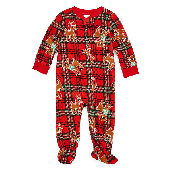 North Pole Trading Co. Rudolph Family 1 Piece Pajama Set -Unisex Baby
