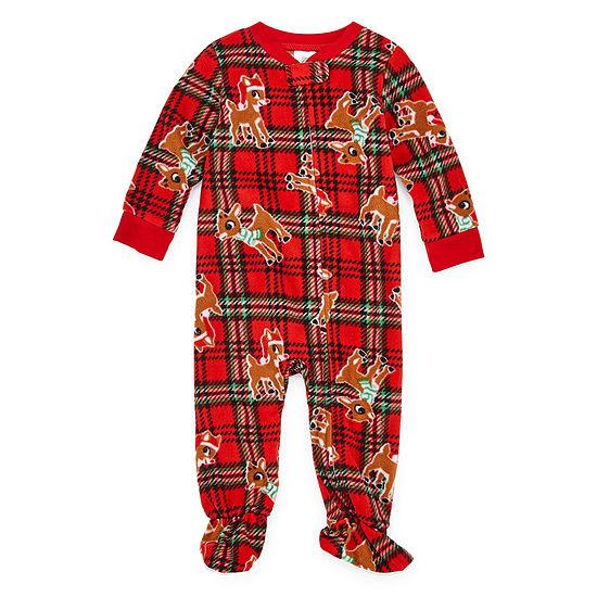 North Pole Trading Co. Rudolph Family 1 Piece Pajama Set -Unisex Baby