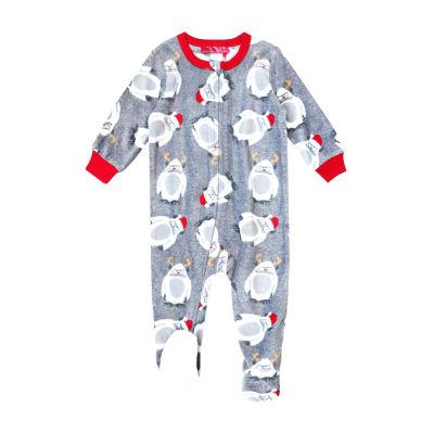 Holiday #Famjams Yeti Family Unisex Knit Footed Pajamas Long Sleeve