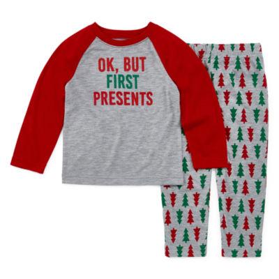 North Pole Trading Co. Christmas Wish Family Unisex 2-pc. Pant Pajama Set Toddler