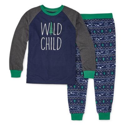 Holiday #Famjams Explore Family Boys 2-pc. Pant Pajama Set Preschool / Big Kid