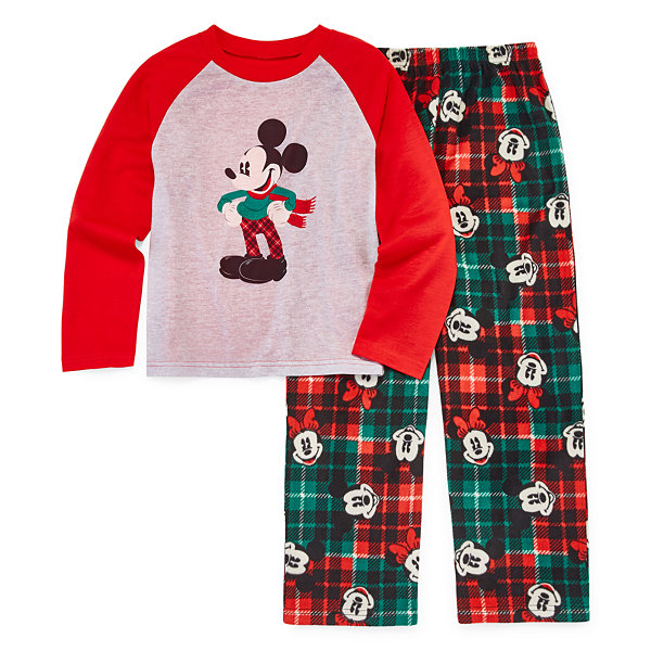 Disney Mickey Mouse Family Graphic Tee Boys 2 Piece Pajama Set