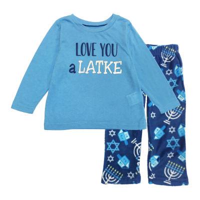 Hanukkah Family Unisex 2-pc. Pant Pajama Set Toddler