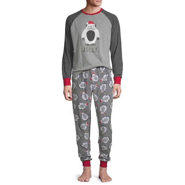 Holiday #Famjams Yeti Family Mens 2-pc. Pant Pajama Set