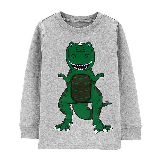 Carter's Toddler Boys Crew Neck Long Sleeve Graphic T-Shirt