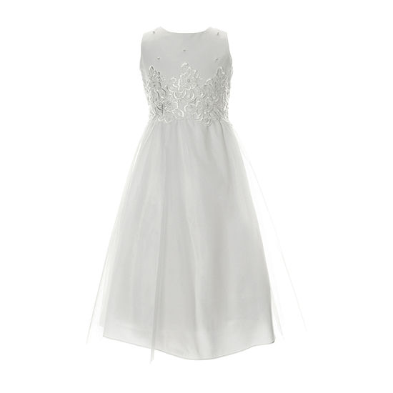 Keepsake First Communion Little & Big Girls Sleeveless A-Line Dress