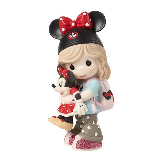 Precious Moments Disney Girl Fan Figurine