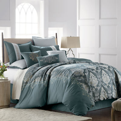 JCPenney Home Kagan 7-pc. Jacquard Embellished Comforter Set