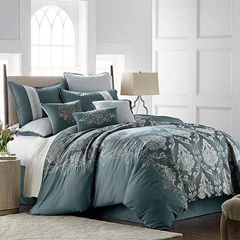 JCPenney Home Kagan 7 pc. Jacquard Embellished Comforter Set