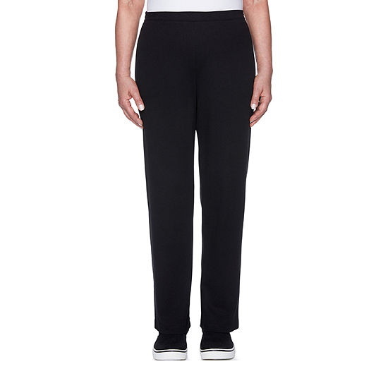Alfred Dunner Womens Straight Pull-On Pants