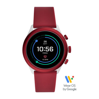 Fossil Smartwatches Sport Unisex Adult Multi-Function Red Smart Watch-Ftw4033