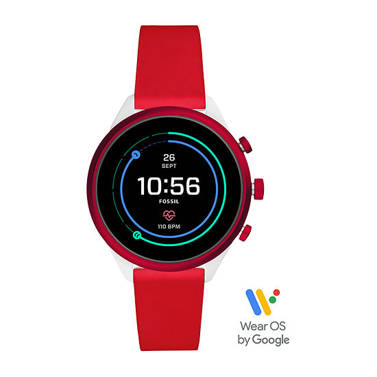 Fossil Smartwatches Sport Womens Multi-Function Red Smart Watch-Ftw6052