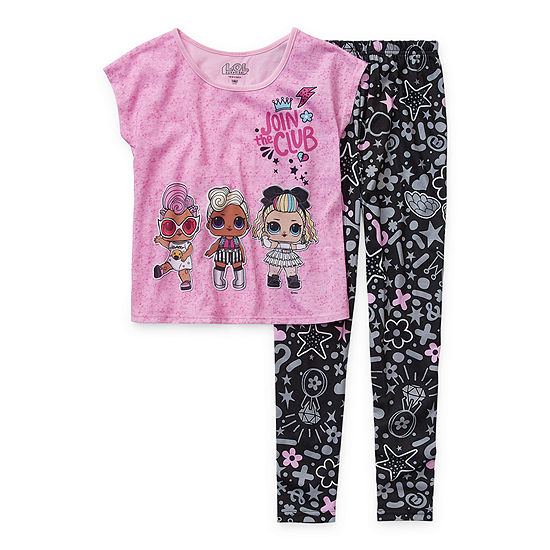 Little Kid / Big Kid Girls 2-pc. LOL Pant Pajama Set