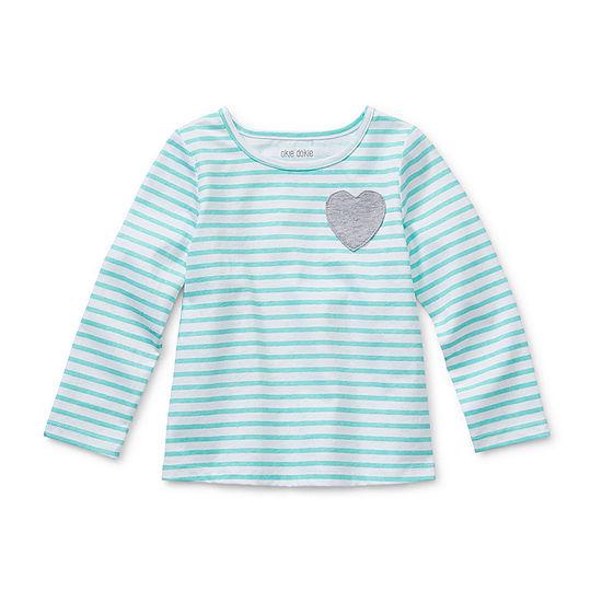 Okie Dokie Toddler Girls Round Neck Long Sleeve T-Shirt