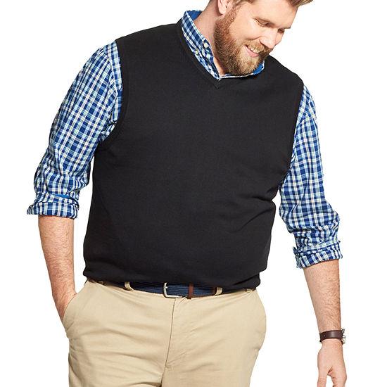 IZOD Mens V Neck Sweater Vest Big and Tall