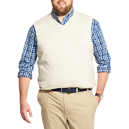 1920s Men's Sweaters, Pullovers, Cardigans IZOD Mens V Neck Sweater Vest Big and Tall $8.09 AT vintagedancer.com