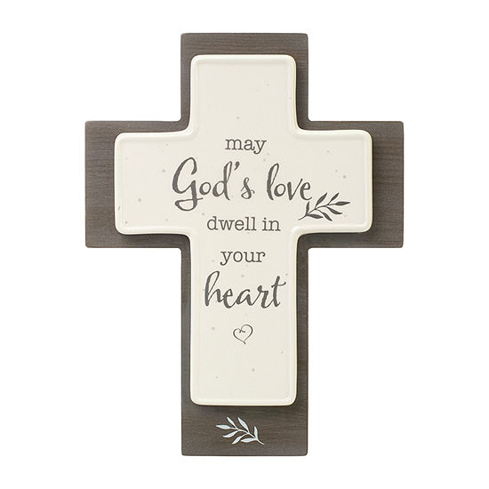 Precious Moments May God'S Love Dwell In Your Heart Cross Tabletop Decor
