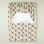 Saturday Knight Cardinals & Berries Holiday Rod-Pocket Kitchen Valance