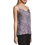 Worthington Womens Cowl Neck Sleeveless Tank Top