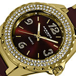 Akribos XXIV Womens Crystal Accent Gold Tone Bracelet Watch-A-514brg