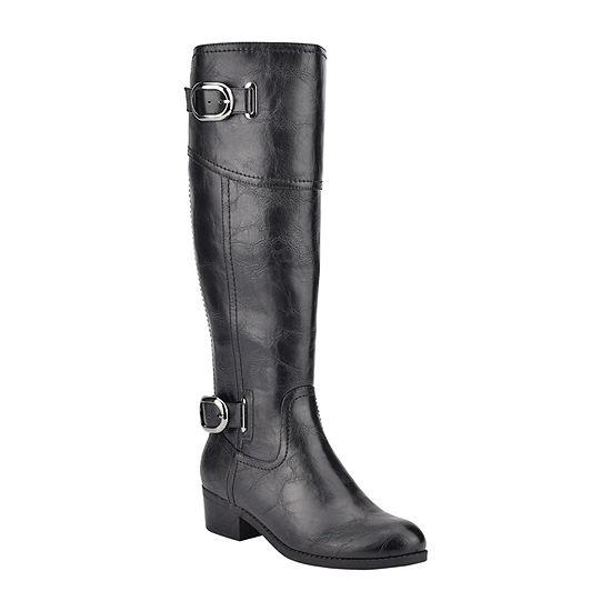 Unisa Womens Tifza Wide Calf Riding Boots Block Heel