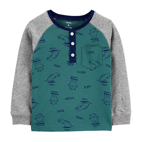 Carter's Toddler Boys Long Sleeve Henley Shirt