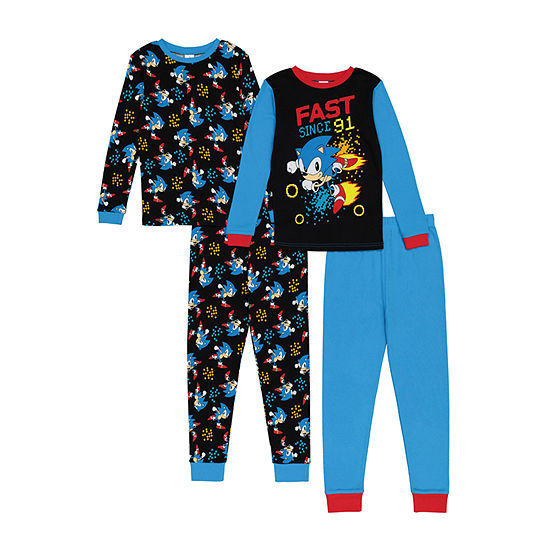 Little & Big Boys 4-pc. Sonic the Hedgehog Pajama Set