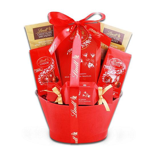 Alder Creek Lovely Lindt Gift Basket Food Set