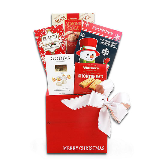Alder Creek Merry Christmas Gift Basket Food Set