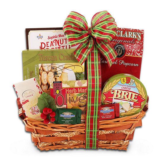 Alder Creek Happy Holidays Gift Basket Food Set
