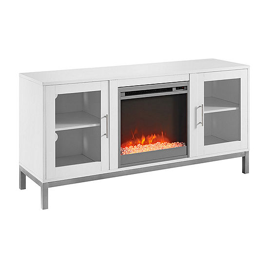 """52"""" Avenue Wood Electric Fireplace TV Console with Metal Legs"""