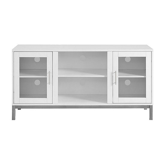 """52"""" Avenue Wood TV Console with Metal Legs"""