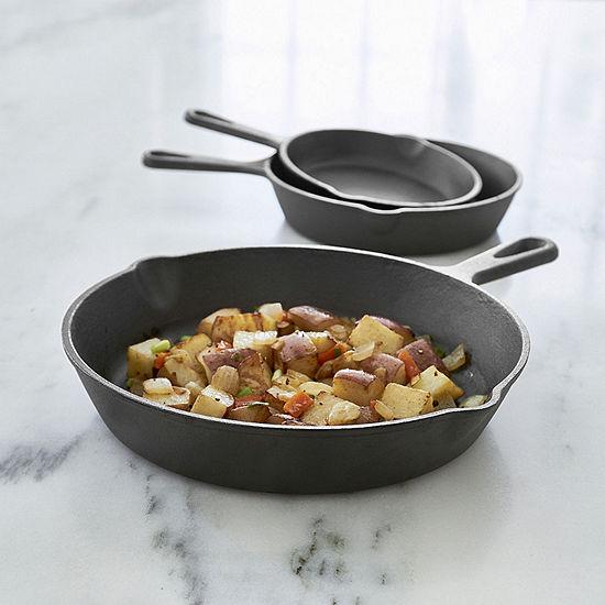 Cooks 3-pc. Cast Iron Fry Pan Set